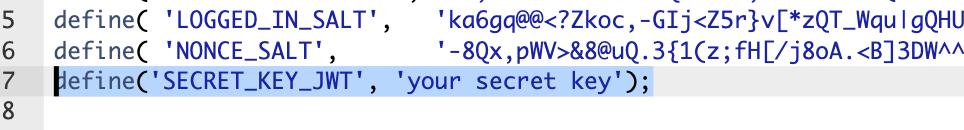 jwt secret key
